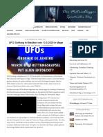 UFO Sichtung in Brasilien Vom 13.5
