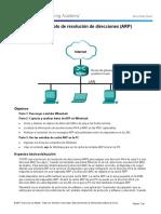 3.4.3.5 Lab - Address Resolution Protocol (ARP)-convertido