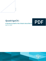 QuadrigaCX a Review by Staff of the Ontario Securities Commission