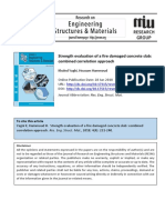 Strength evaluation of a fire damaged concrete slab combined correlation approac