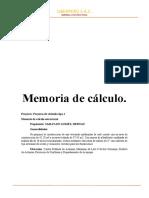 MEMORIA CALCULO ESTRUCTURAL