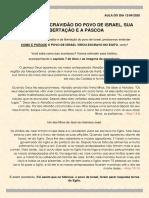 PÁSCOA - A ESCRAVIDÃO DO POVO DE ISRAEL, SUA LIBERTAÇÃO E A PÁSCOA