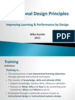 Basic Instructional Design Principles