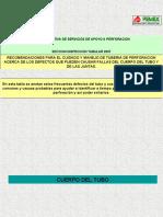 MANEJOS Y CUIDADOS DE LA TUBERIA