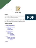 MathPad Help
