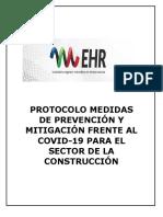 Protocolo medidas de prevención y mitigación frente al COVID