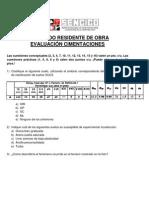 Evaluación Cimentaciones