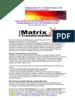 Einladung Matrix Transformation  1+2 Seminarbeschreibung Lüchow 22