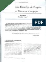 Reto, L&Nunes, F; Métodos como Estratégia de Pesquisa.Problemas Tipo numa Investigação; RPG; Lisboa; ISCTE; I 99; Parte I