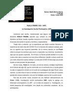 6.- ENSAYO SOBRE PAULO FREIRE. 01junio