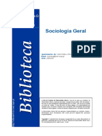 Sociologia Geral Apontamentos1