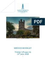 Order of Service 14th June 2020 (Trinity I)