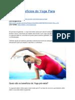 Benefícios Do Yoga Para Gestantes