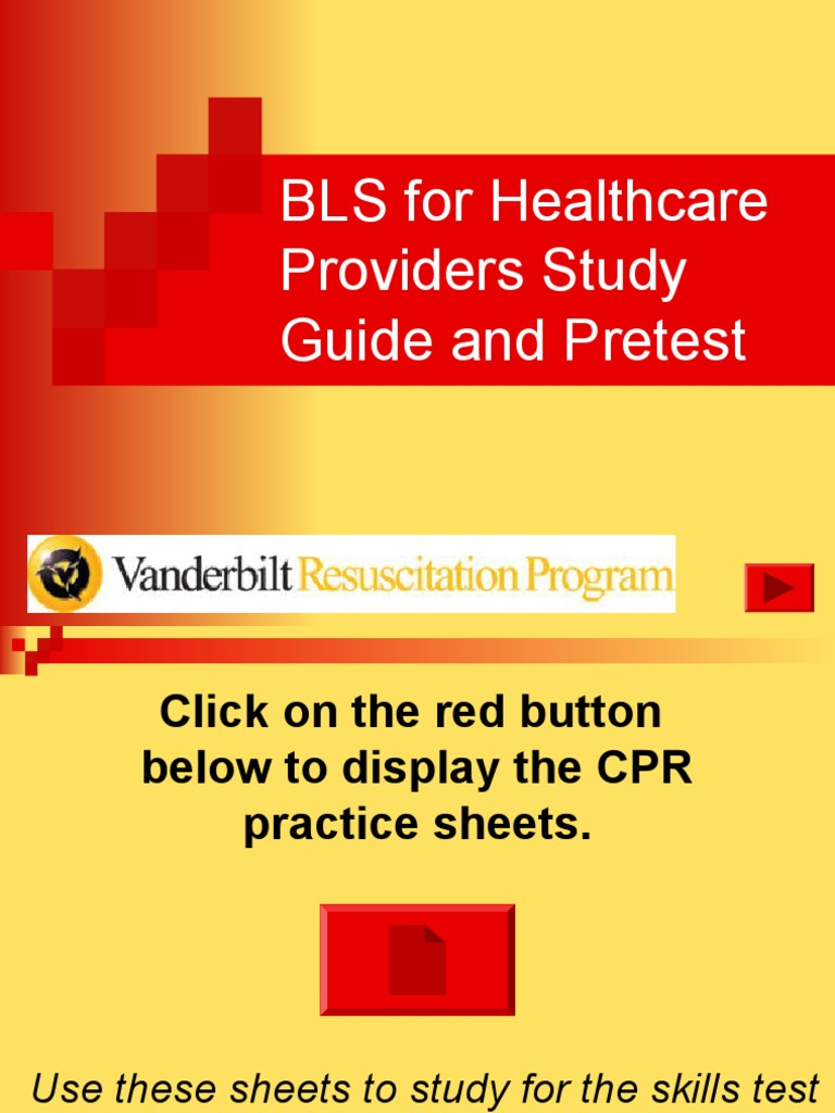 BLS Study Guide and Pretest | Cardiopulmonary Resuscitation |  Cardiovascular Physiology