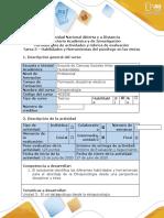 Guía de actividades y rúbrica de evaluación - Tarea 3 - Habilidades y herramientas del psicólogo para el abordaje en grupos étnicos (1).docx