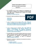 CUESTIONARIO CURSO DERECHO LABORAL 2