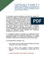 convention entre ALGERIE ET USA sur la fiscalité