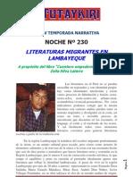 Literaturas Migrantes en Lamb Aye Que