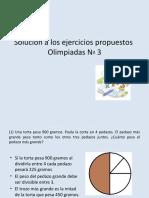 Solución Ejercicios Olimpiadas No 3