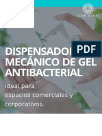 DISPENSADOR MECÁNICO DE GEL ANTIBACTERIAL