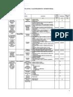 Clasa V 2019-2020 Planul calendaristic semestrial n
