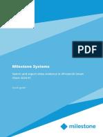 MilestoneXProtectSmartClient SearchExportEvidenceQuickGuide en-US