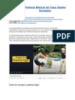 Posturas Básicas de Yoga_ Quatro Exemplos