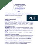 Resumen Curricular de Carlos Ruiz Bolívar, Enero 2011