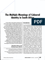 The Multiple Meanings of Coloured Identity in South Africa