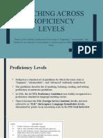 Teaching across proficiency levels