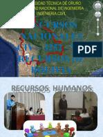RECURSOS NACIONALES EXPOCICON