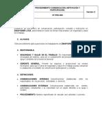 ST-PRO-003 PROCEDIMIENTO COMUNICACIÓN , MOTIVACIÓN Y PARTICIPACIÓN