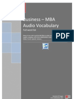 Business - MBA 3000 Words German English
