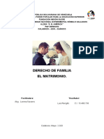 OBJETIVO II D. de Familia (El Matrimonio) Luis Rengifo