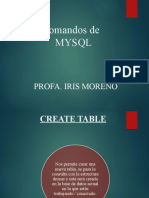Comandos de MYSQL