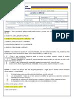 COMUNICAÇÃO E EXPRESSÃO - Avaliação Oficial 2020 - N2