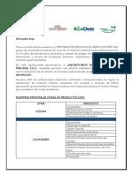 Carta de presentación Productos Bioquimicos