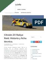 Citroën ZX Rallye Raid. Historia y ficha técnica. – MotorMania.info