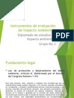Instrumentos de Evaluacion Ambiental