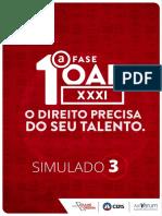 213814CERS - SIMULADO 3 - OAB XXXI