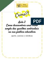 ATIVIDADE EDUCAÇÃO AMBIENTAL AULA 2