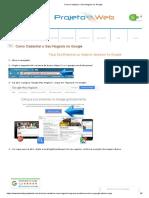 Como Cadastrar o Seu Negócio no Google - Site - tutoriaisprojetoweb