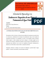 Evidencia #1 - Diagnóstico de una Planta de Tratamiento de Agua Potable - Marlon Vergara