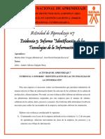 """Evidencia #3 - Informe """"Identificación de las Tecnologías de la Información"""" - Grupo. Dúo Logístico"""