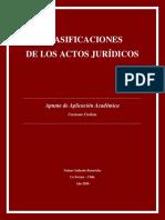 Clasificaciones Actos Jurídicos