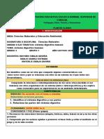 FORMATO PLAN DE CLASE CIENCIAS NATURALES