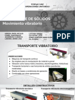 TRANSPORTADORES VIBRATORIOS  - OPERACIONES UNITARIAS I