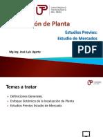 Disposición de Planta - UNIDAD 1 - Semana 1 - Sesión 1-Estudios Previos Estudio de Mercado