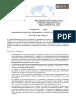 PISA 2018 principales resultados para Colombia