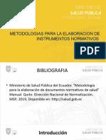 METODOLOGIAS PARA LA ELABORACION DE INSTRUMENTOS NORMATIVOS